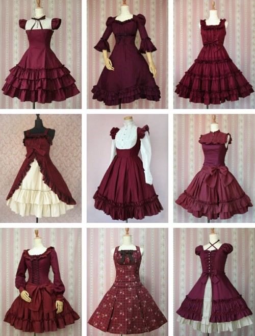 lixxieb:  mangomartyr:  lace-me-tighter:  Dresses by Mary Magdalene.  I LOVE this color!  I'll have one of each.
