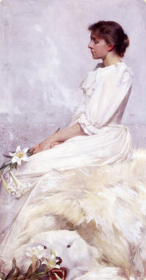 artmastered:  Portrait of Bessie by Albert Herter, 1892