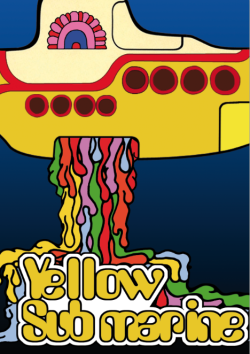 Poster inspired on the movie Yellow Submarine by Giordan Bernard ► 1st year student
