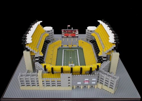 Heinz Field - Pittsburgh Steelers3,500 Lego BlocksVisit our Website to see more amazing models made entirely out of Lego blocks!www.burikmodeldesign.com