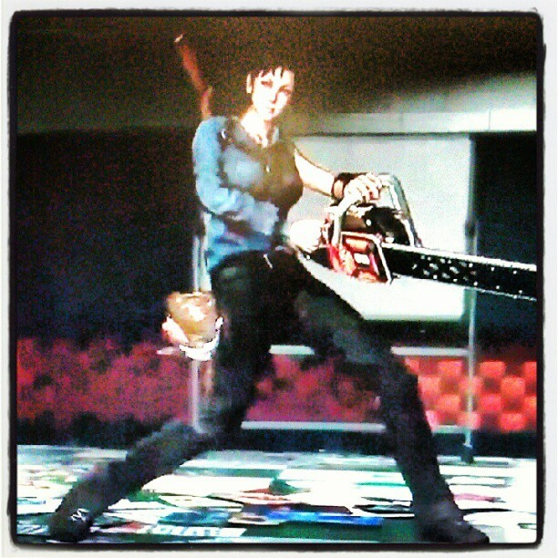 OMG. There is an Ash outfit in #lollipopchainsaw. I am excite. But I'm stuck at work, which means I torture myself by watching and reading all of can about lollipop Chainsaw. #gaming #xbox #rollontuesday (Taken with Instagram)