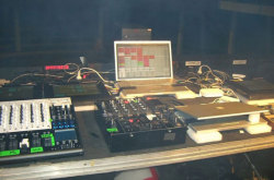 The setup for Justice's shows