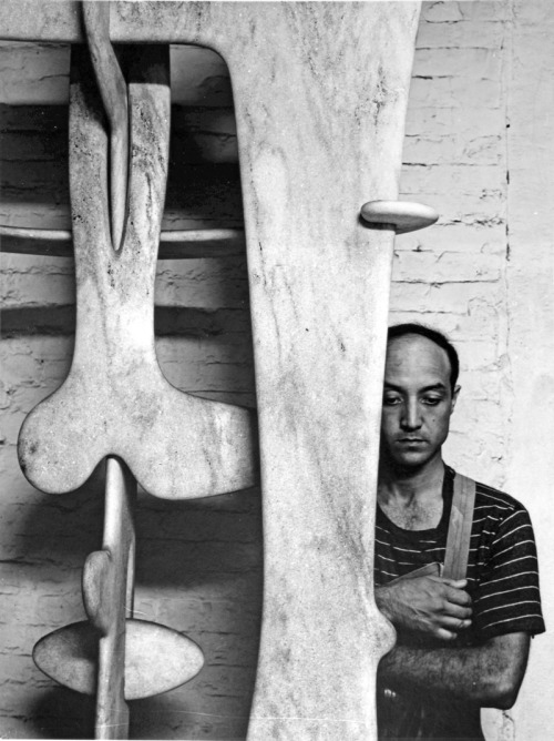 sombhatt:  Arnold Newman(American, 1918-2006) ISAMU NOGUCHI, 33 MACDOUGAL ALLEY, NEW YORK, NY, 4 JULY 1947 © Chris Beetles Ltd 2010