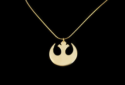 For all the rebels out there :P geekymerch:  (via Star Wars Rebel Insignia Necklace by MeaganDibbJewellery on Etsy)