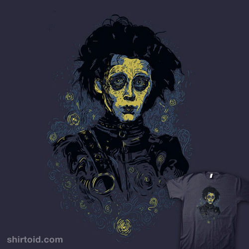 shirtoid:  Scarry Night by FrederickJay is $10 today only (7/7) at RIPT Apparel