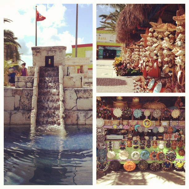 Day 2: Cozumel, doing a bit of sight seeing!😊🌴🐚☀ #cozumel #carnivalcruise #sightseeing #stone #chimes #shells #designs #tribal #vacation #travel #summer #happy #hotweather #goodvibes #day2 (Taken with Instagram at Cozumel Mexico Port)