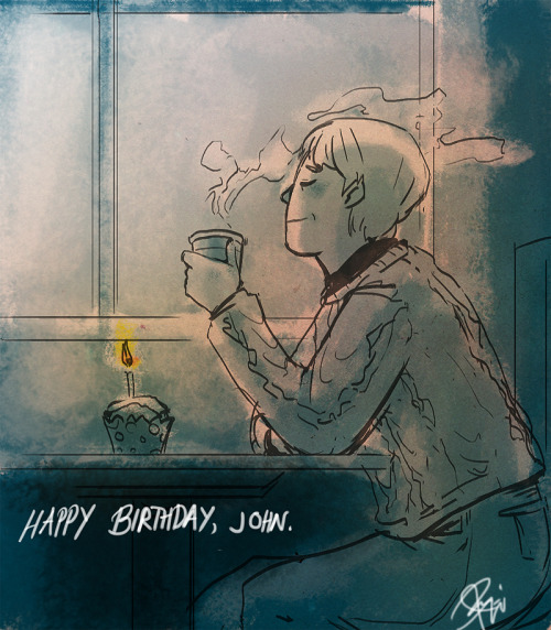 "mmmerche:  Happy Birthday, John! C: Don't worry, Sherlock will be with you soon!  Lyndsay here. *waves* Traditionally, John Watson's birthday is often July 7th.  Why, you might ask?  Here's a very succinct answer from Brad Keefauver's article ""Birth of a Watson, Birth of a Canon:"" ""In his pamphlet, Watsoniana, Elliot Kimball placed Watson's birthday on July 7, 1852. (Of course, he also claimed that Watson's middle name was ""Hubert."") In his Annotated Sherlock Holmes, William S. Baring-Gould states that several commentators place Watson's birth on July 7th, based on the fact that Watson took Beaune with lunch to celebrate."" Hubert…??? Keefauver goes on to say that it's a horrible day for us to contemplate celebrating, due to the fact ACD passed on this day in 1930.  With respect, I'd like to make a counter-argument…that the remembrance of Doyle's fruitful, often tragic, but very full life should be an occasion to celebrate all that was wonderful about Sherlock Holmes and John Watson and the world they went adventuring in.  And thus, always respecting alternate theories, July 7th has always been my date of preference. Here's to John Watson, his birth and his many near-deaths, to his life's work telling the world about Sherlock Holmes, and to the brilliant literary agent Sir Arthur Conan Doyle, who brought Watson's tales to the world!"