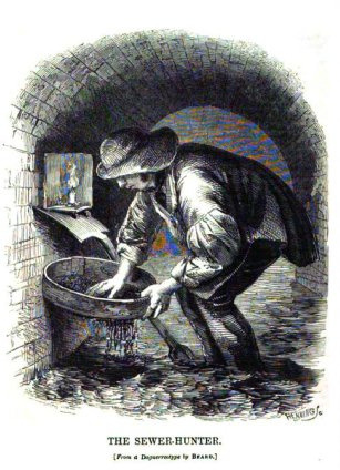 "Inside 19th Century London's sewers with ""toshers,"" who made a living by scouring for trash and waste to be resold:  They were mostly celebrated, nonetheless, for the living that the sewers gave them, which was enough to support a tribe of around 200 men–each of them known only by his nickname: Lanky Bill, Long Tom, One-eyed George, Short-armed Jack. The toshers earned a decent living; according to Mayhew's informants, an average of six shillings a day–an amount equivalent to about $50 today. It was sufficient to rank them among the aristocracy of the working class–and, as the astonished writer noted, 'at this rate, the property recovered from the sewers of London would have amounted to no less than £20,000 [today $3.3 million] per annum.'  ""Quite Likely the Worst Job Ever."" — Mike Dash, Smithsonian More from Dash"