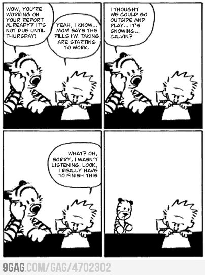 La ultima caricatura de Calvin and Hobbes 3 (via @turint)