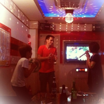 Karaoke with The Kims. #omma #miamor #korea  (Taken with Instagram)
