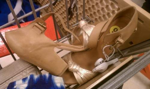 Italian pumps at Marshalls… Love these. Beautiful design and leather exterior. It's too bad I have enough self awareness to know I won't wear them though - they were hard to walk in after one minute.