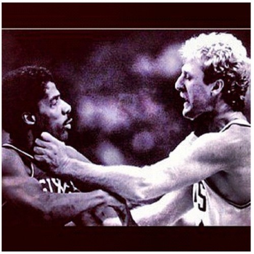 My nigga Dr J vs My wigga Larry bird  (Taken with Instagram)