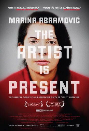 Marina Abramović -The Artist is Present. A Documentary Film  Hooray, finally a serious contender for the title of film of the year! And what an amazing stroke of luck that I'll be working for the next three months with Dogwoof, the brilliant company that looks after its distribution in the UK and abroad. If you are based in the UK you'll find the release dates and a list of cinemas screening the film here. Don't miss it.