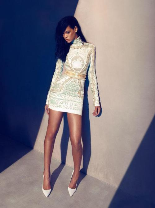 BALMAIN Rihanna by Camilla Akrans for Harper's BazaarUS August 2012