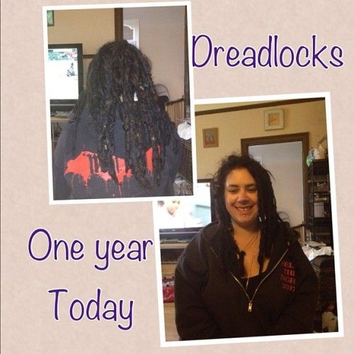 My dreadlocks are one year old today!!! #dreadlocks (Taken with Instagram)