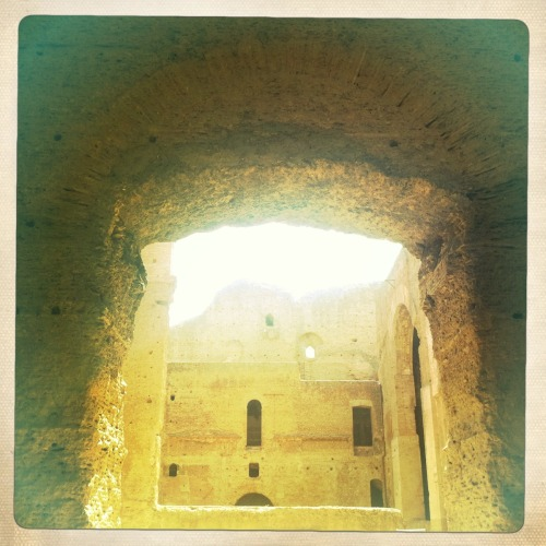 The baths of Caracalla, Rome Jimmy Lens, Ina's 1969 Film, No Flash, Taken with Hipstamatic
