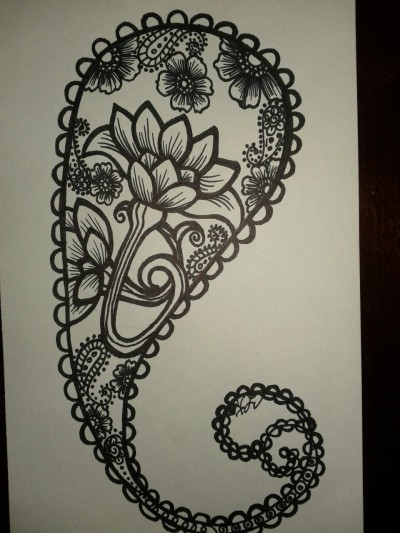 My paisley sketch of my tattoo. I will be adding more, as I am working on getting a half sleeve. Can't wait!