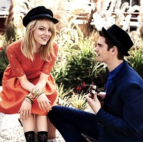 Emma Stone and Andrew Garfield remind me of a modern day Romeo and Juliet, not the tragedy part, but just how perfect they look together…