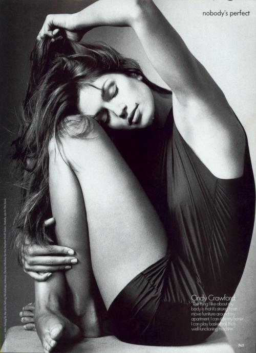 """Nobody's Perfect"". Cindy Crawford photographed by Irving Penn for US Vogue, September 1994"