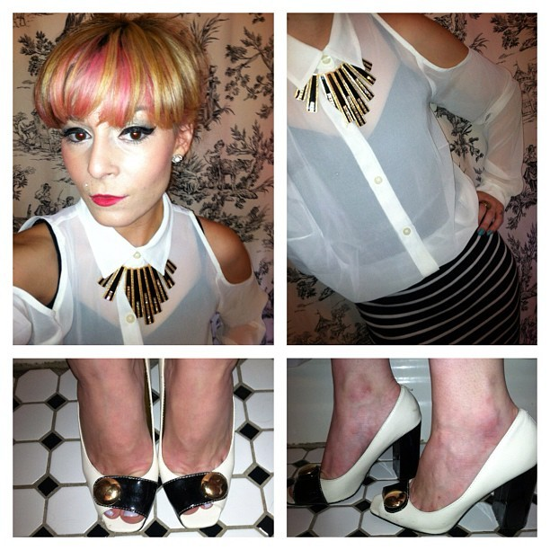 Today's outfit for work. #fashion #design #retro #1940s #sailor #pinup #nofilter (Taken with Instagram)