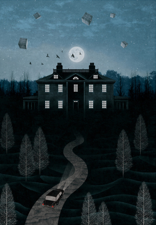 gobugipaper:  Mystery night (2012)  personal work ,digital painting, photoshop  illustration by gobugi