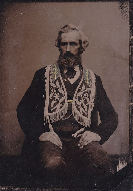 tuesday-johnson:  ca. 1870's, [tintype portrait of a gentleman wearing clothing of a fraternal order] via Leigh McKinnon, LJMcK's Photostream on Flickr
