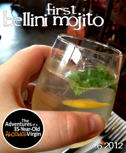 "Bellini MojitoSummer. 101 degrees. Dinner at The Heights in DC. 101 degrees. And yes, it's worth repeating. As most of the country knows, it's unbelievably hot these days. Scorching, disgusting, sweat-like-you're-getting-paid-to-sweat hot. Baking cookies on your dashboard, even the breeze is 98 degrees and sprinkler water is 89 degrees hot. I think I even saw a 7lb poodle burst into flames. Maybe it was already on fire. Who knows.But seriously, it's been 101+ degrees in the District for days. I mean, its been in the 98+ space for a few weeks. It's gross. My white sugar does have a melting point, people. No one wants to see that.In fact, have you ever considered what a leading national tourist destination with a healthy homeless population smells like at 101 degrees? Wait. Hold on. Sorry. Don't. Sorry. I'm sorry I even brought it up. My mistake. I wasn't thinking clearly. Ignore me.…Anyway, the game plan every night is finding something cooling to do. Movie night, ice cream parties, quiet evenings at home in the A.C., naked dives into tubs filled with soothing frozen cubes of blue and red jello—you know it's time to get out when you're just sitting in purple goo. And on this occasion the plan to stay cool included a nice dinner out at one of our very favorite local restaurants, The Heights in the bustling, typically steamy Columbia Heights neighborhood.Home to a few former firstdrinks, Three Day Weekend and a Cool Cucumber Bloody Mary variation, and hands-down, the absolute best poached eggs for brunch, we were there to have a nice dinner, catch up with Chris & Natalie and hopefully drink something cold and refreshing.Scanning their summer July seasonal menu, I was looking for something with the fresh and delicious flavors of summer, but that refreshing straight from the firehose cool factor. And then Natalie found the potential cool summer drink holy grail: a full pitcher of Bellini Mojito.Part summer peach sparking wine, mixed with cooling mint and simple syrup, it just screamed ""best suggestion"" to beat the heat. Now, I'm not going to lie. In my head, I was hoping it would be peach wine mixed with white rum, simple syrup and muddled with mint and frozen peaches. I know I'm still the Virgin, but if you're going to mastermix two classic summer drinks into one monster of a winner, go whole hog. But this was certainly close enough.Sweet, tangy, peachy, subtle with a nice sparkle from the clean, clear wine. Nicely refreshing, smooth but with a hint of alcohol, it was really lacking mint flavor but certainly had lots of mint leaves throughout. On one hand, it didn't really have the peach punch of bellini, it didn't have the sweet, minty spice of a mojito and while similar, it also didn't even have the depth of a simple white sangria. It was tasty and thirst quenching in this heat, but it was more of a hyped peach wine water with some fleck of green garnish.So how do I put this? Its like when you ask for dessert and someone brings out a cheese plate. Sure, it's dessertesque and it's delicious, but it's not what I asked for—or in this case what it was described as. So, one one hand I liked it and on the other it was kinda disappointing. Not that it matters, The Heights, you'd have to literally ruin 6 meals in a row for me to lower my love for you. No seriously, I've never had a bad meal. Or a bad service. So one mediocre drink isn't sinking any ships. And it did make me forget about 101 degrees for a few sips. And for that, I thank you.Cheers, BenPS: It's July! And next week we're celebrating Christmas in July at our monthly Yappy Hour for Charity at the Blue Banana, supporting the Washington Humane Society. And this event even has an official beer sponsor, the aptly partnered Flying Dog Brewery!  First 20 people get a free Flying Dog brew, ALL dogs get free dog biscuits and come get your dog's picture taken with Summer Santa (aka, my husband Joe in a summer Santa suit… no, I'm not kidding. He wishes I was…)"