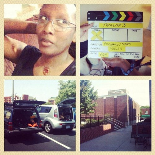 "June 29th & 30th on the set of ""Trollop 3""  (Taken with Instagram)"