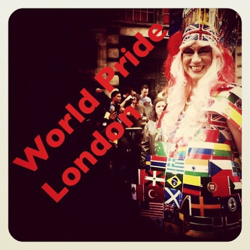 World Pride London 2012! We had great fun today… Tag us in your pics of the day and we'll do some re-posts!!! (Taken with Instagram)