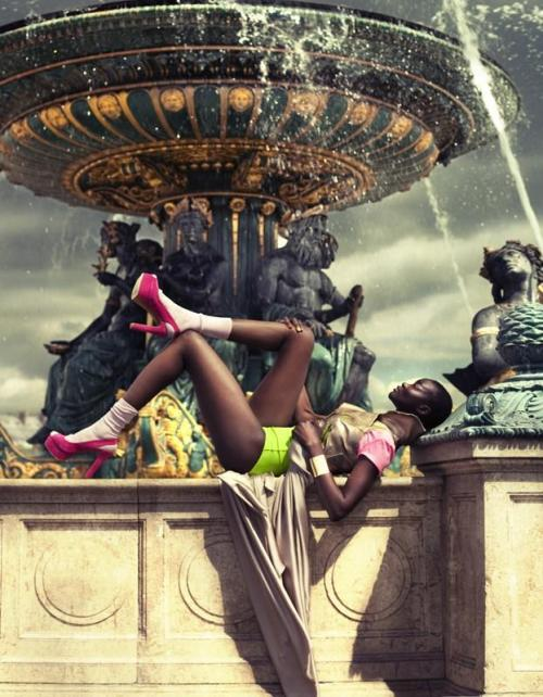 modelsofcolor:  Ataui Deng for Beau Monde Magazine July 2012 by Tibi Clenci