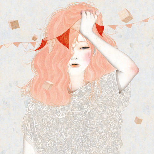 drawgabbydraw:  More great illustrations by Jung Eun Park here, and lots of them on tumblr, too. It was hard to choose just one to reblog here! gobugipaper:  Headache (2012)  personal work ,digital painting, photoshop  illustration by gobugi