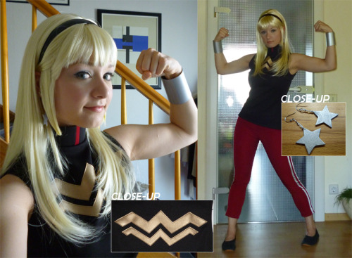 lilprince:  aigue-marine:  Mesdames et Mesieurs - My Wonder Girl costume is FINISHED! :D I'm not a hundred percent convinced by my wig and proper shoes are still missing, but besides that it's finished. I really like how the top turned out. It looks really, really neat and is very comfortable to wear. I have no idea when I'm going to wear this, but yaai! New Young Justice: Invasion costume! :D  Sina you bamfiest of bamfs