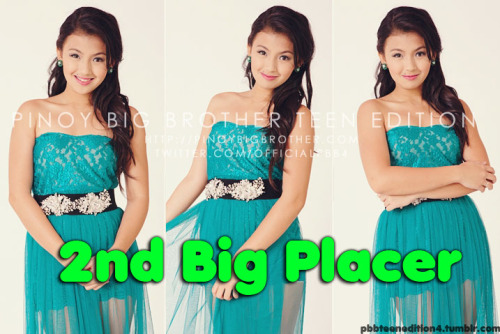 pbbteenedition4:  Congratulations to the 2nd Teen Big Placer - Karen!