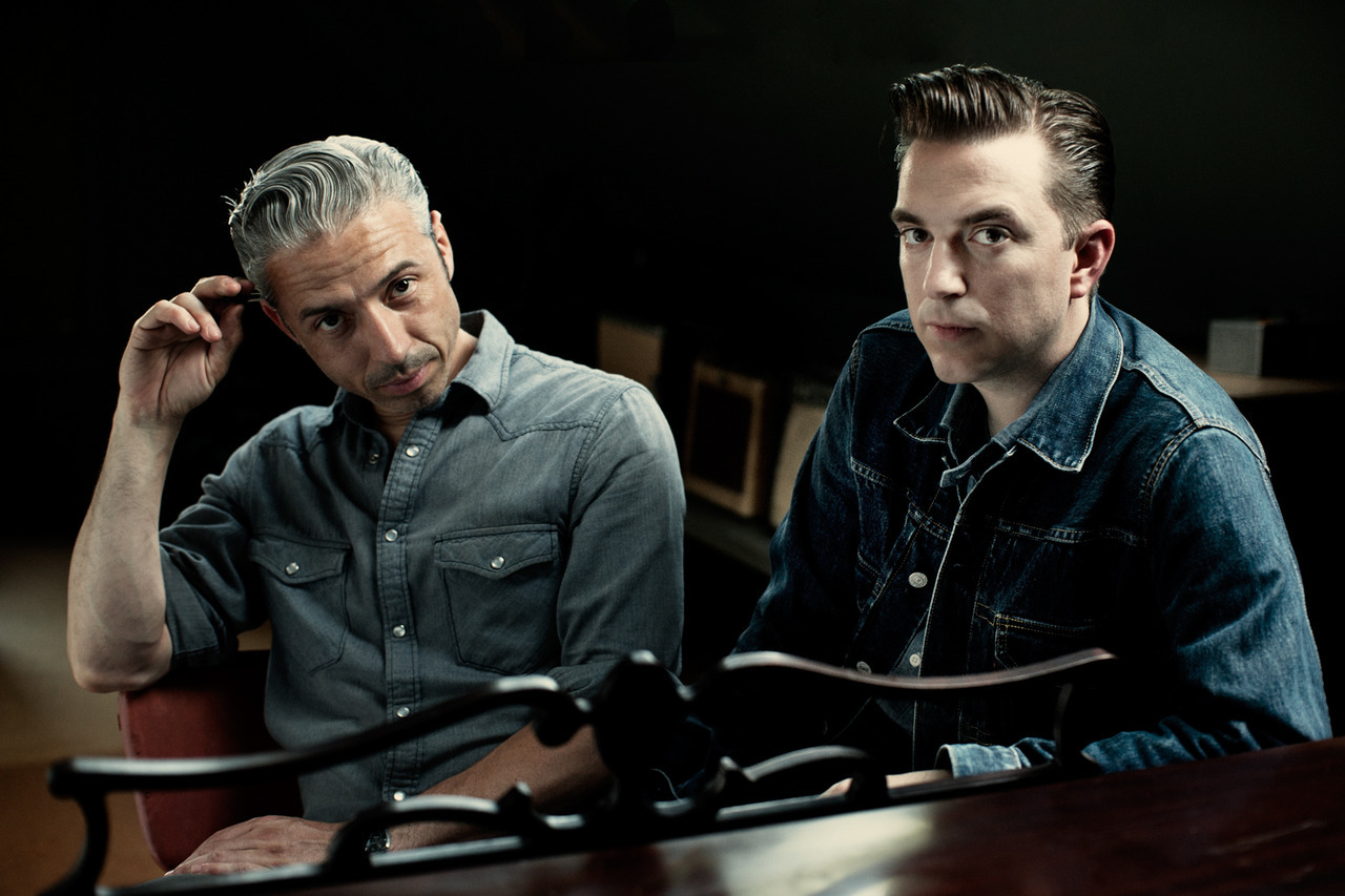 Jimmy Sutton and JD McPherson - musicians - Chicago  ©Jim Herrington I saw my pals JD and Jimmy play again last night here in NYC… they were twice as good as the last time I saw them. Here's a photo I took of them last year in Chicago, in the studio where they recorded Signs & Signifiers, JD's amazing first album. That's JD on the right, he writes them, sings them and plays guitar.  Jimmy on the left, he plays bass and sings some too. Both the album and their live shows of late are not to be missed.  A taste: North Side Gal