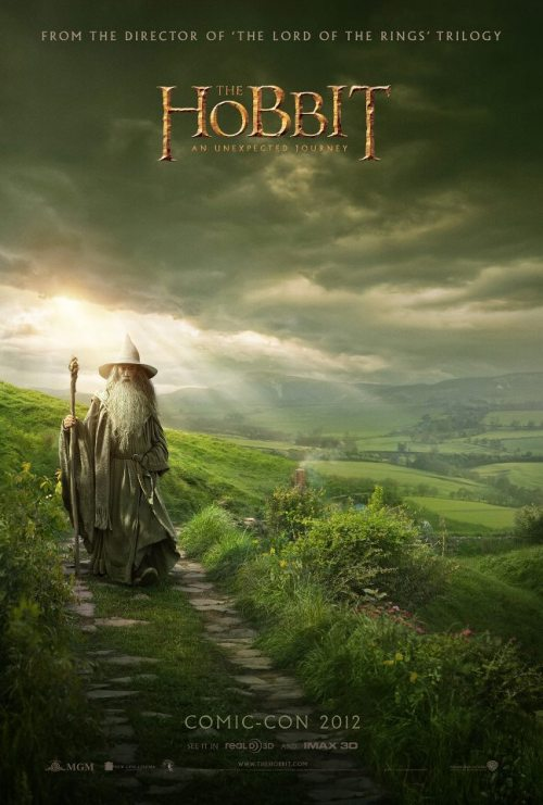 San Diego Comic Con exclusive poster for The Hobbit unveiled Just revealed by Peter Jackson is this new poster for The Hobbit: An Unexpected Journey, available exclusively from San Diego Comic Con next weekend. While it sadly doesn't feature Martin Freeman, it's still rather nice isn't it? If you are attending the panel featuring Martin and the other cast, be sure to grab one!