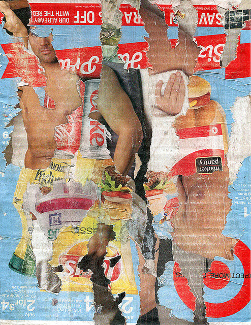 m'effacer (twenty nine) on Flickr. décollage on cardboard 26cm x 20cm schlockhausen: fb