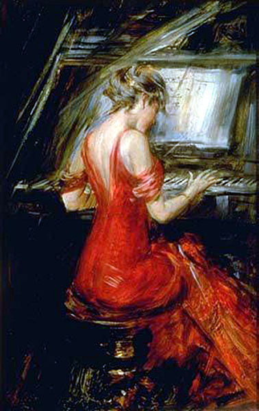 Art painting portrait by Boldini Giovanni 1842-1931