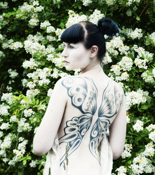 my beloved back piece done 2009 in sthlm, sweden, by tattoo artist lenny @ east street tattoo. photo by elinleticia högabo. /russianwitch.tumblr.com