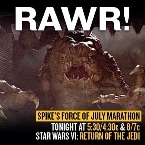 Star Wars July Marathon Continues Today On #spiketv #starwars #sw #swgeek #swnerd #geek #geekology #geekologie #thinkgeek #jedi #sith #empirestrikesback #yoda #theforce #vader #darthvader  (Taken with Instagram)