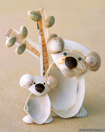 Seashell Koalas {How to} Found at: marthastewart