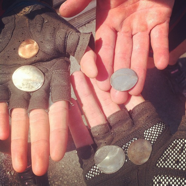 Train flattened coins! (Taken with Instagram)