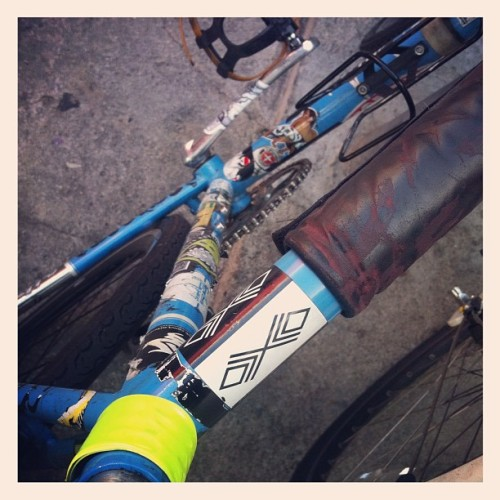 Xhico Sighting #bike #bicycle #sticker #slap #streetart #losangeles #la (Taken with Instagram)