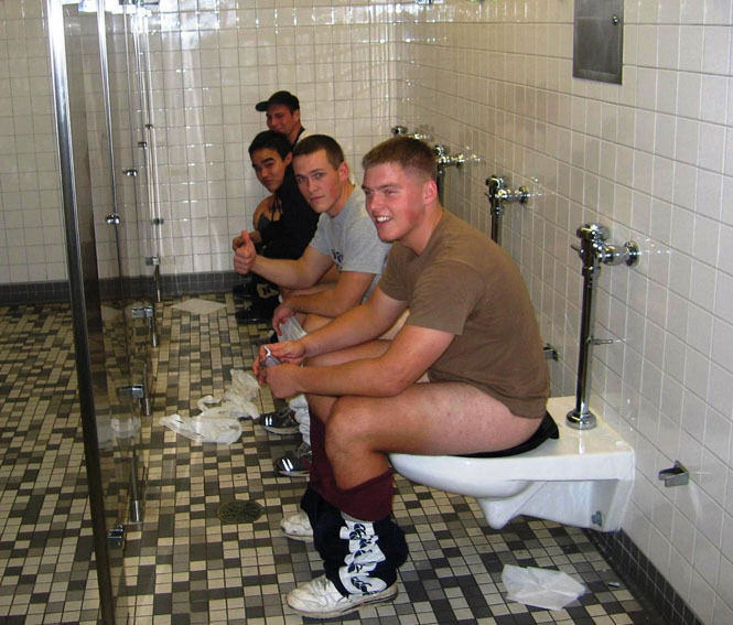 sexy naked men pooping