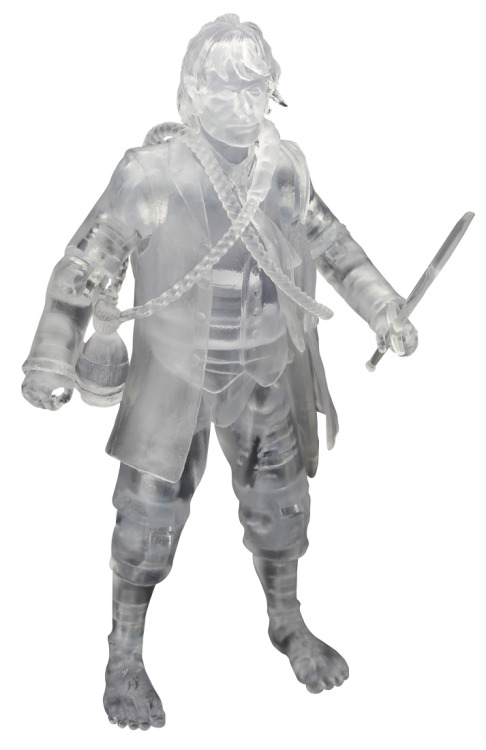 First action figure from The Hobbit revealed - Martin Freeman as Invisible Bilbo! It seems there is a bit of a push going on for things from The Hobbit today, what with the poster and now this first look at the first action figure from the film! It's Martin Freeman as Bilbo Baggins, rendered in clear plastic as if wearing The One Ring. Like the poster, the figure is a San Diego Comic Con exclusive and limited to only 3000 pieces worldwide. It's available on the show floor from Gentle Giant Booth #3513 and Entertainment Earth Booth #2343 for $25, while stocks last. [Which won't be long] Tolkien fansite TheOneRing.net has details on how to win one of two of these figures. Head on over to be in for a chance of winning.