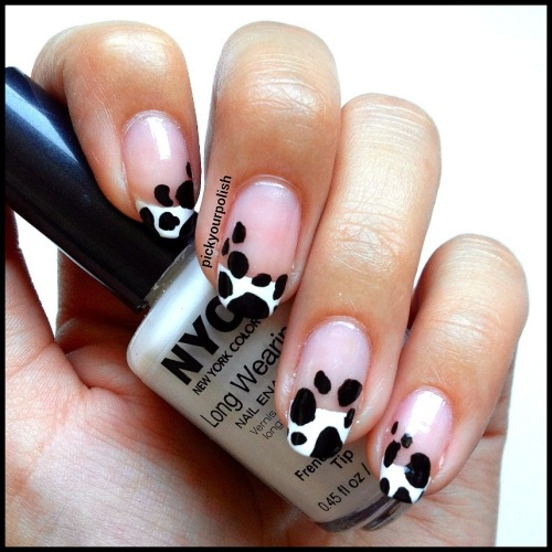 Cow Print Nail Art View Post shared via WordPress.com