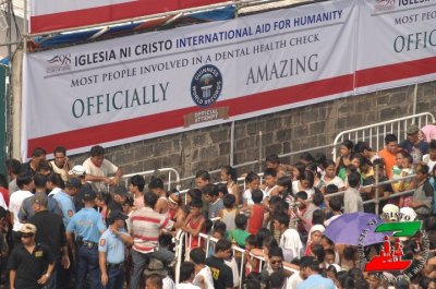 "imodeworx:  Look what i found after asking google for "" lingap iglesianicristo twitter "" July 7, 2012, Iglesia Ni Cristo - Lingap sa Mamamayan @ Parola Manila The most people involved in a dental health check — 4,128 The most blood pressure readings taken in 8 hours — 8,026 The most blood glucose level tests in 8 hours — 5,217 The most blood glucose level tests in 8 hours is 3,573 and was achieved at an event organised by the NovoNordisk Education Foundation (India) and The Times of India (India), in Bangalore, India on 13 November 2011. - Guinness World Records http://paulgeniusboy.blogspot.com/2012/07/iglesia-ni-cristo-guinness-world.html"