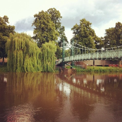 River is looking very high at the moment! (Taken with Instagram)
