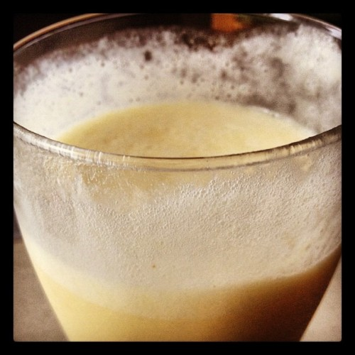 Staying cool with a home made piña colada (Taken with Instagram)