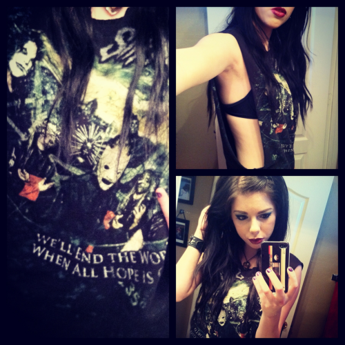 outfit for Mayhem. So excited to see Slipknot live. ♡