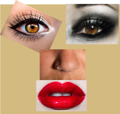 face collage ! by lexanation-1 featuring a lip glossLip gloss